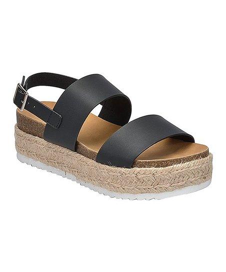 b3cf8bbf3ea SODA Black Kazoo Sandal - Women