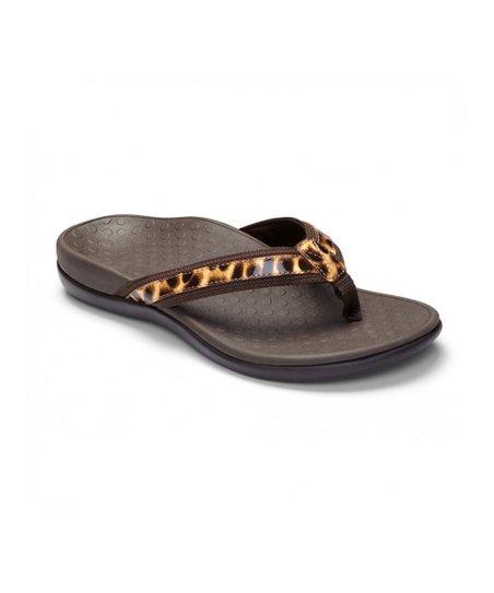 6c738f8a15 Vionic Brown Leopard Tide II Orthotic Sandal - Women | Zulily