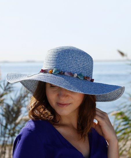 b88f983a1392d2 Gianna Hat Light Blue Embellished Sunhat | Zulily