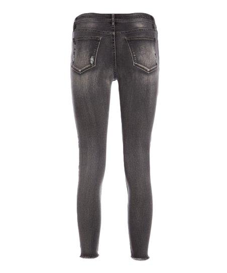 f38e1cbce4f45 Vigoss Dark Gray Marley Super Skinny Jeans - Women | Zulily
