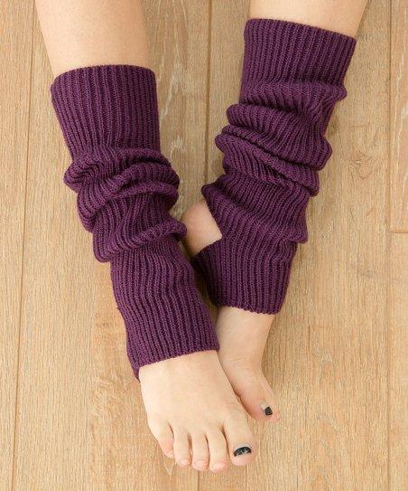 Fée et rit Purple Stirrup-Strap Leg Warmers
