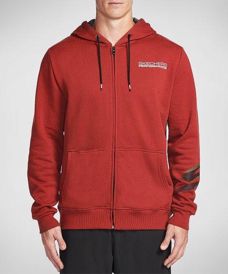 Skechers Red Launch Zip Hoodie | Zulily