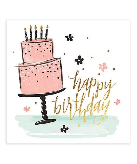 Love This Product 20 Ct Happy Birthday Cake Cocktail Napkin Set