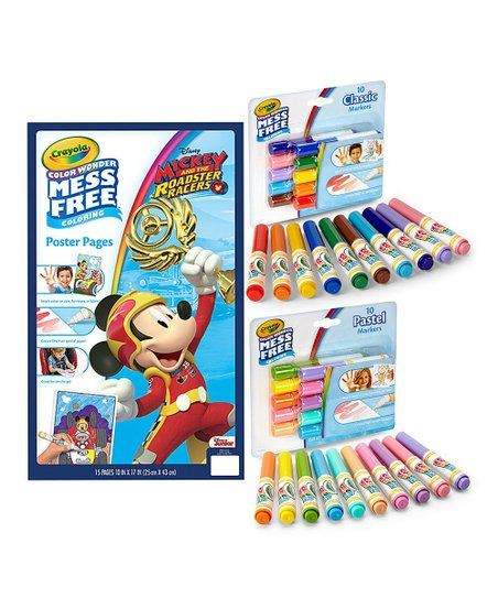 Crayola Mickey And The Roadster Racers Color Wonder Poster Marker