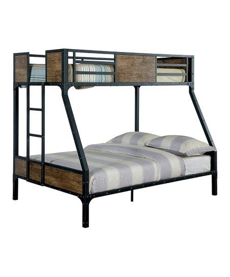 Serendipity Black Lagos Industrial Metal Wood Bunk Bed Zulily