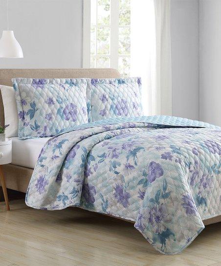 Sl Home Fashions Blue Purple Quilt Set Zulily