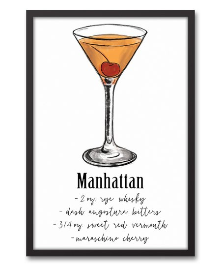 Designs Direct Creative Group Manhattan Recipe Framed Canvas Best Price And Reviews Zulily