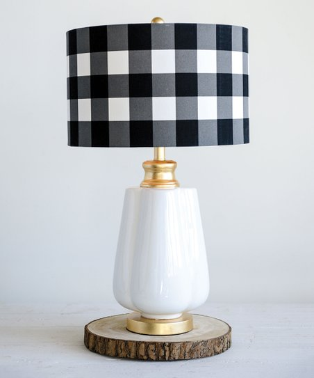 Black Checkerboard Ceramic Table Lamp Zulily