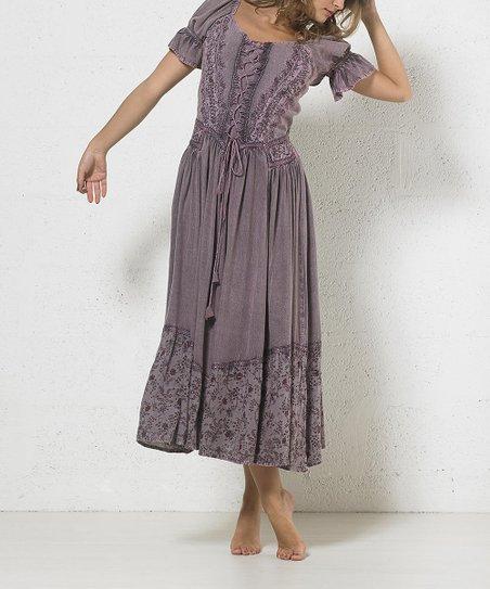 Jasmine Embroidered Peasant Dress Women