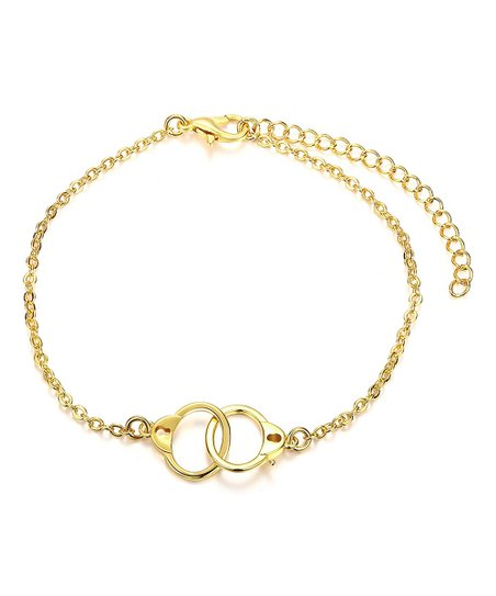 18k Gold Plated Handcuff Bracelet