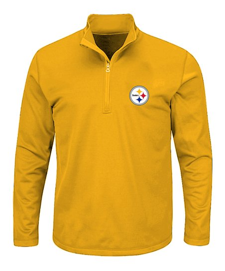 1ff40a3582d love this product Pittsburgh Steelers Gold Quarter-Zip Pullover - Men's Big  & Tall