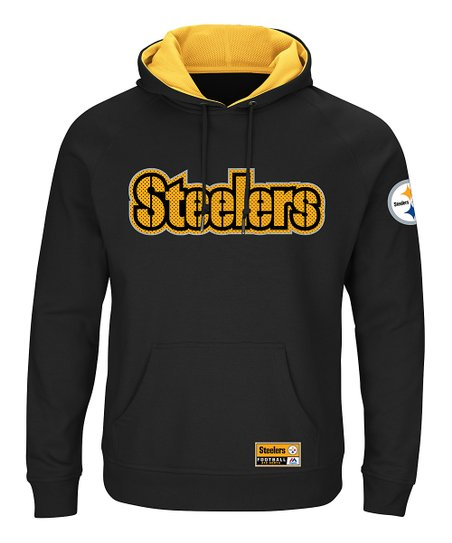 factory price b0be1 7567e Majestic Athletic Pittsburgh Steelers Champion Hoodie - Men's Big & Tall