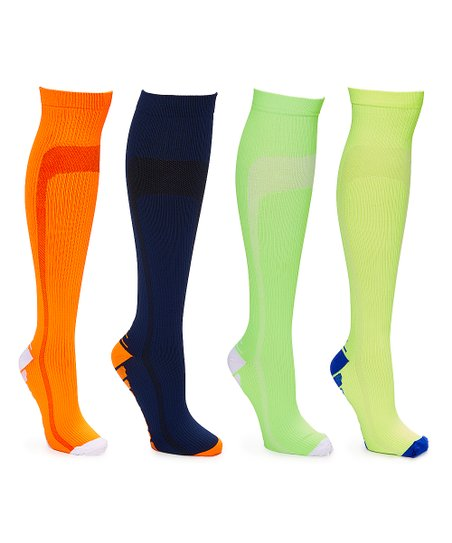 875f513085492 love this product Lime Four-Pack Knee-High 20-30 mmHg Compression Socks -  Women