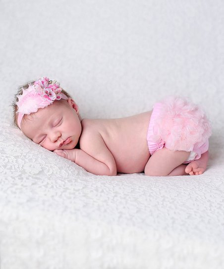love this product Pink Floral Headband   Ruffle Bloomers - Newborn   Infant 972bfb8aa67