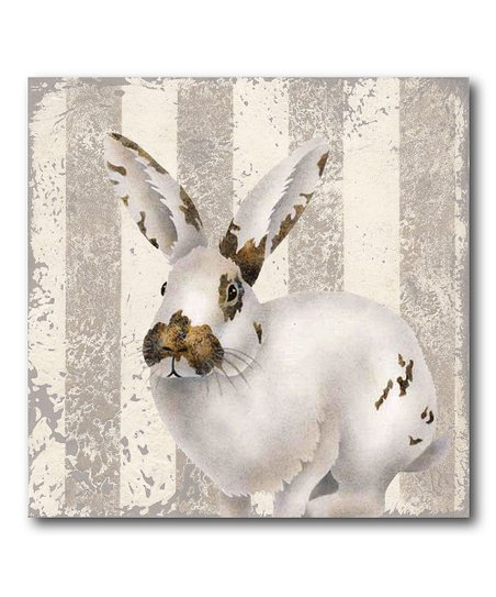 Courtside Market Calico Bunny Wrapped Canvas