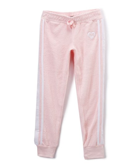 7bbea5dd97899d love this product Pink & White Stripe Track Pants - Toddler & Girls