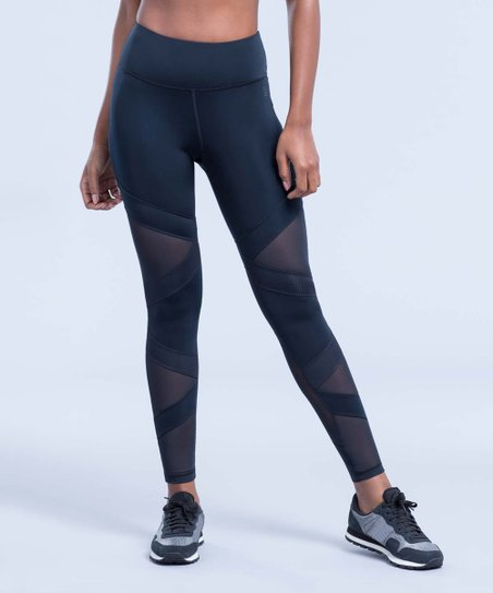 c04df008bed6aa Zobha Black Crew Bandage Leggings - Women | Zulily
