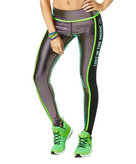 e28973a6b4d7bf Zumba® Holographic Metallic Light Up The Dance Floor Leggings ...