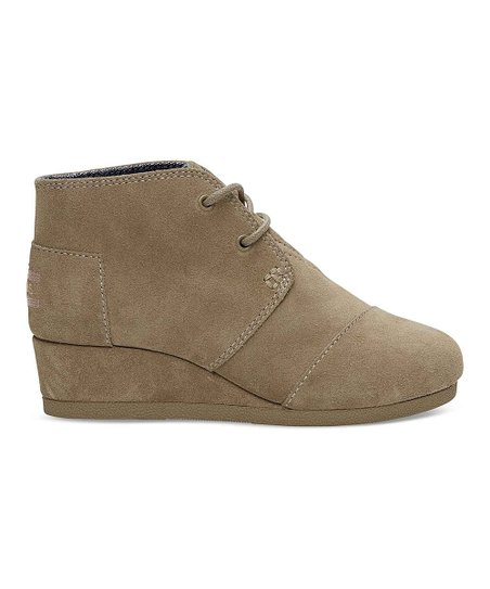 a8410d4df76 love this product Taupe Suede Desert Wedge Bootie - Girls
