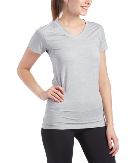 love this product Silver Heather Core Compression V-Neck Tee - Women   Plus 0dac16bebf