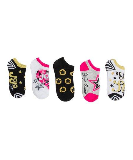 169c40729 love this product JoJo Siwa Black   Pink Five-Pair No-Show Socks Set - Kids
