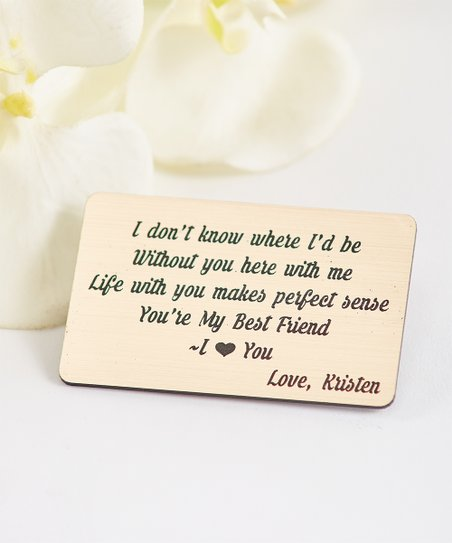 Cabany Co You Are My Best Friend Personalized Wallet Card Zulily