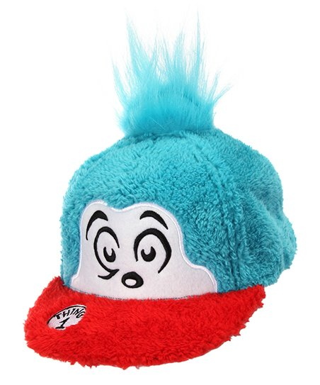 elope The Cat in the Hat Thing 1 Fuzzy Baseball Cap  3896ba86f03