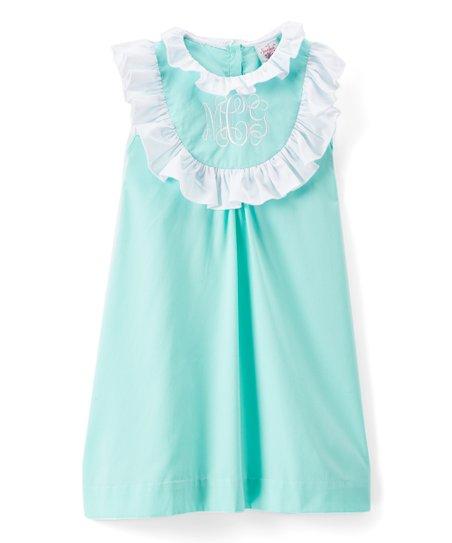 fa63e4a90ca8 Smocked or Not Teal Monogram Shift Dress - Infant, Toddler & Girls ...