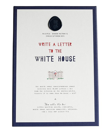 Mr. Boddingtons Studio Write a Letter to the White House Kit | Zulily