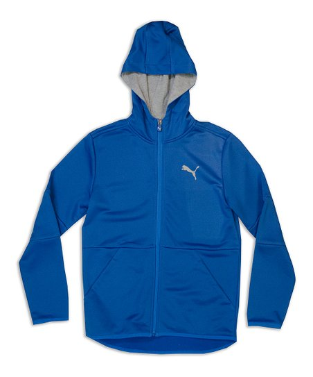3dacf0806fa8 love this product Blue   Gray Zip-Up Hoodie - Boys
