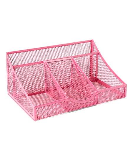 Tremendous Merangue Pink Mesh Desk Organizer Home Interior And Landscaping Sapresignezvosmurscom