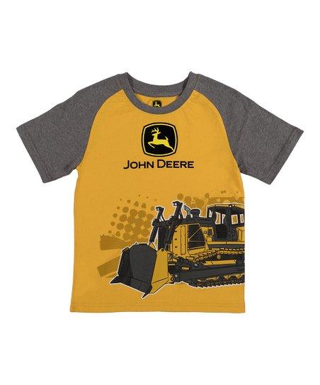 8884412e1 John Deere Construction Yellow Bulldozer Tee - Boys | Zulily