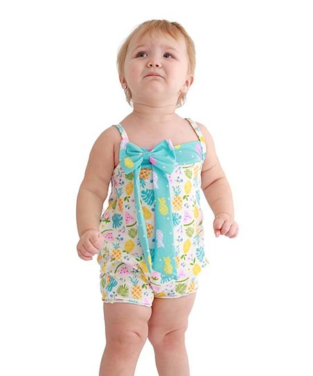 112faee188a Jelly the Pug Blue Summertime Christina Romper - Infant