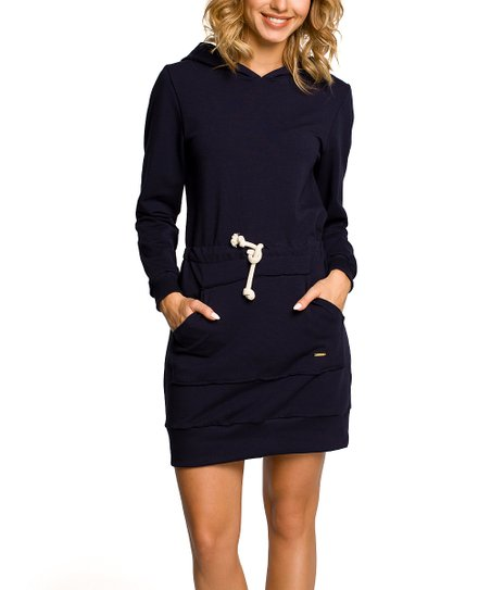 c977b4d09bf1 love this product Navy Blue Hooded Sweater Dress - Women