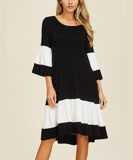 Annabelle Usa Black White Bell Sleeve Midi Dress Women Zulily