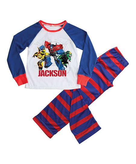 7cf69ab692 love this product Transformers Blue   Red Personalized Pajama Set - Kids