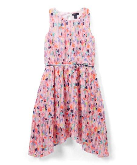 e1867dd0cf1 Tommy Hilfiger Light Pink Floral Pleated Dress - Girls