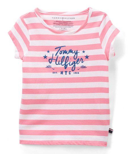 b2ae1f363 love this product Pink Carnation Stripe 'Tommy Hilfiger' Tee - Toddler