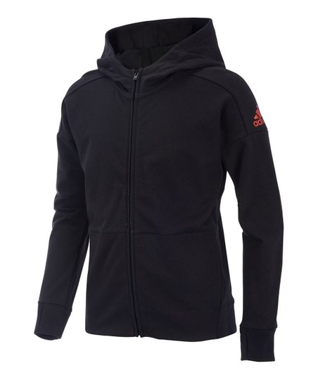Adidas Black Field Jacket Girls Zulily