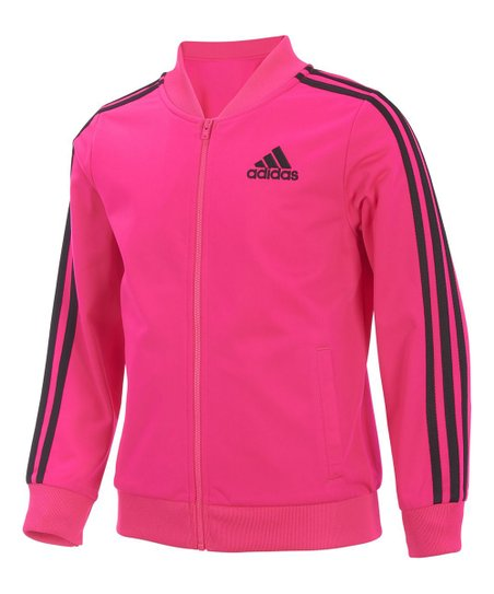 abd2fee7ed58 adidas Neon Pink Bomber Jacket - Girls