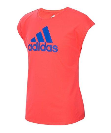 adidas Red-Orange Climalite® Logo Scoop Neck Tee - Toddler  d22143908ac