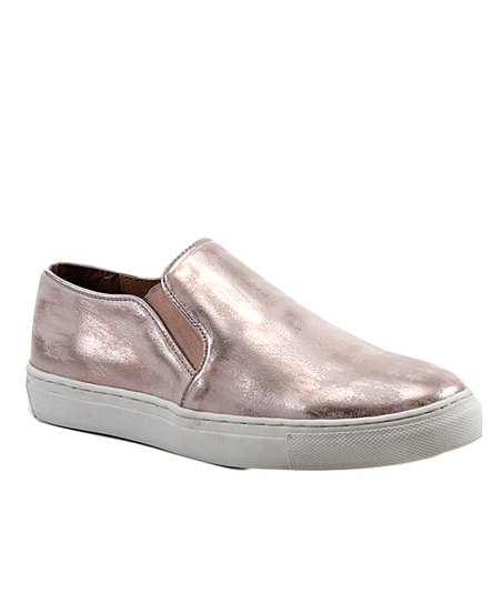 f584f37f0bb5 love this product Rose Gold Pick A Daisy Leather Slip-On Sneaker - Women