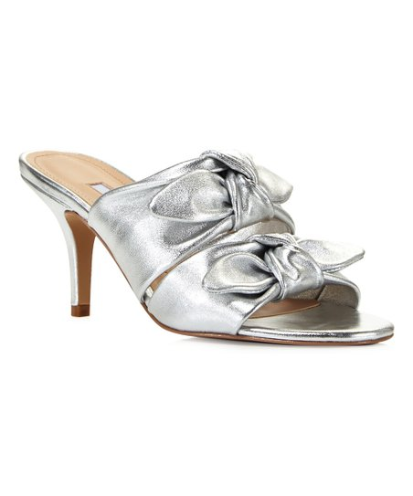 b3141637c5c love this product Silver Metallic Corona Leather Sandal - Women