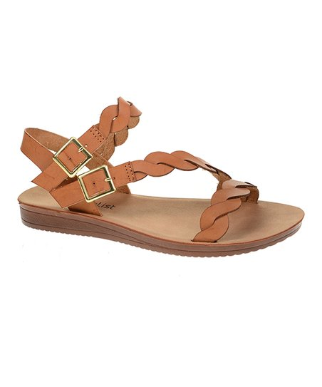 448c40dace6 CL by Laundry Sugar Brown Braided Double Buckle Sandal - Women
