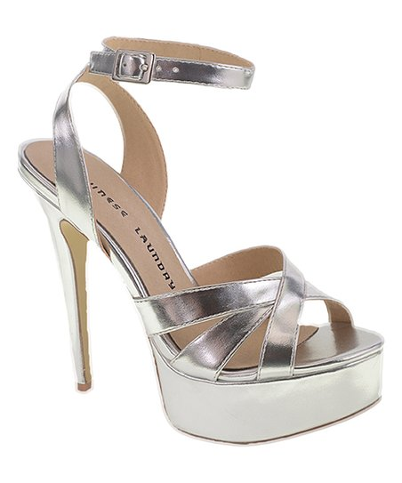 9c865e12398 love this product Metallic-Silver Alyssa Platform Sandal - Women