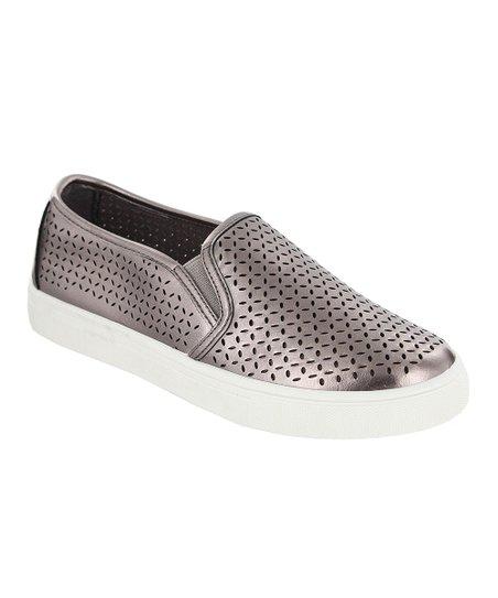 MIA Shoes Pewter Edith Slip-On Sneaker