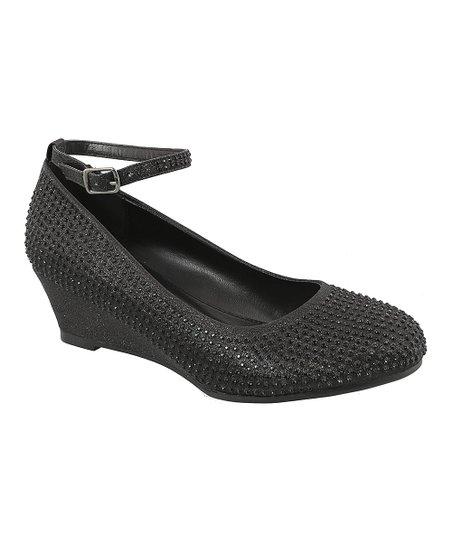 842ecce5ba9 TOP MODA Black Embellished Ankle-Strap Pump
