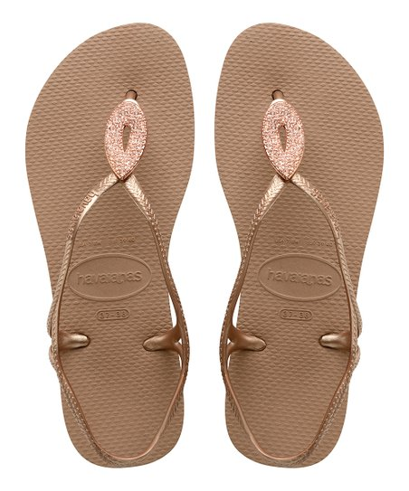 7445df20f love this product Rose Gold Luna Special Flip-Flop - Women