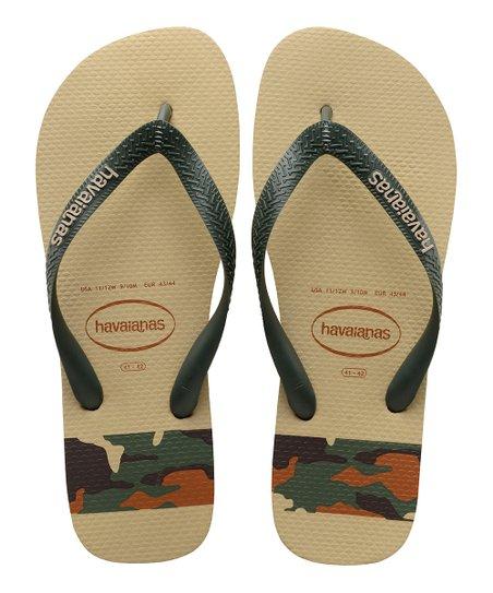 543490ba2b0e love this product Sand   Gray Top Stripes Logo Flip-Flop - Men