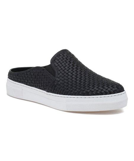 J/Slides Black Fiona Leather Sneaker